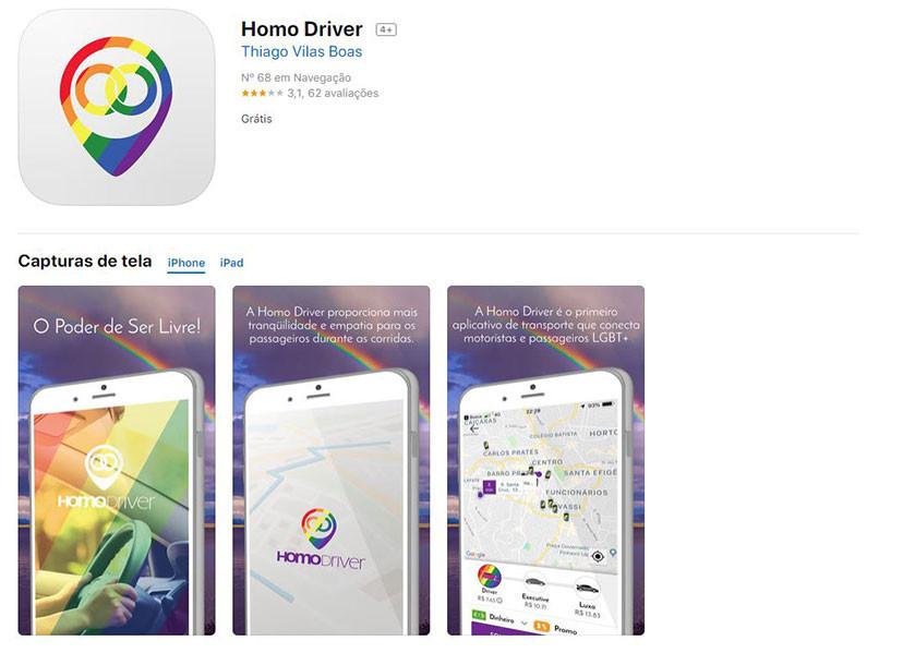 Apps contra a LGBTIfobia: Homo Driver