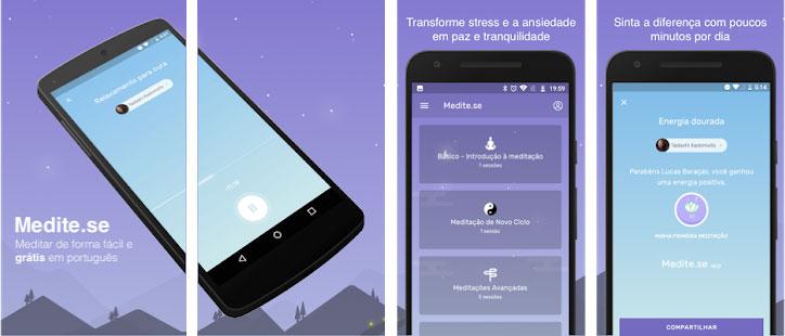 Apps para relaxar #1. Medite-se